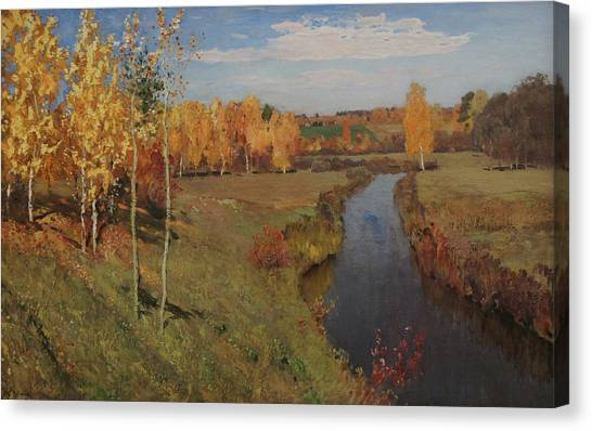 Golden Autumn Canvas Print by Isaac Levitan