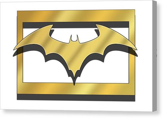 Golden Bat Canvas Print