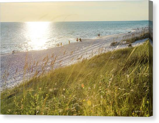 Golden Beach Afternoon Canvas Print