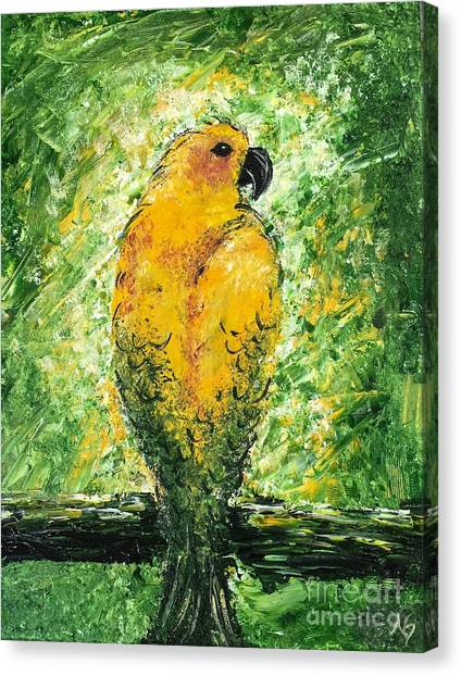 Golden Bird Canvas Print