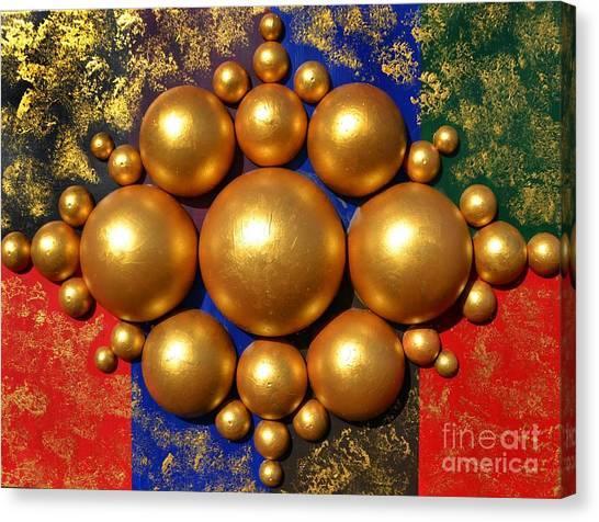 Golden Bubbles Canvas Print