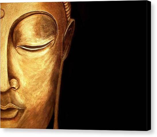 Golden Buddah Canvas Print