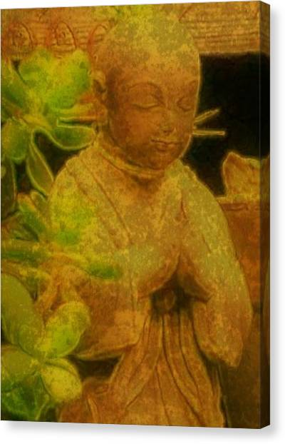 Golden Buddha Canvas Print by Jen White