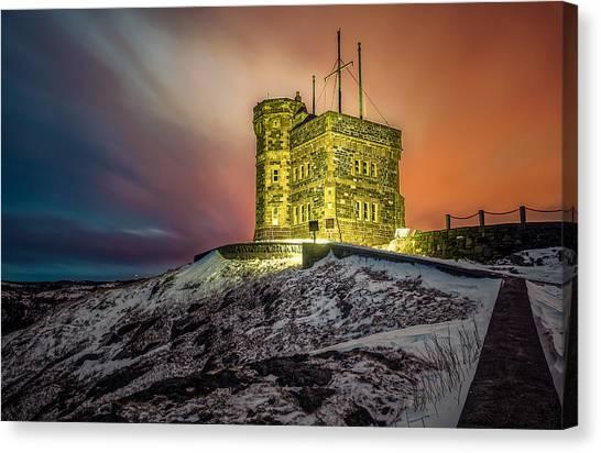 Newfoundland And Labrador Canvas Print - Golden Cabot Tower by Gord Follett