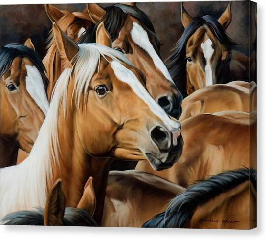 Horse Farms Canvas Print - Golden Child by JQ Licensing