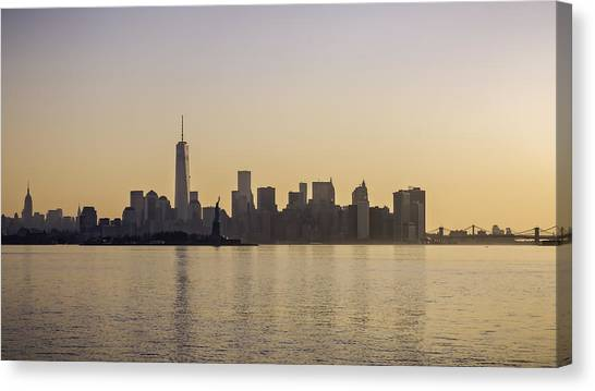 City Sunrises Canvas Print - Golden City by Eduard Moldoveanu