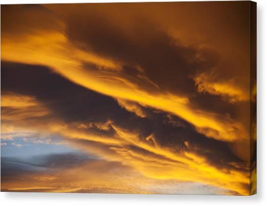 Golden Gate Bridge Canvas Print - Golden Clouds by Garry Gay