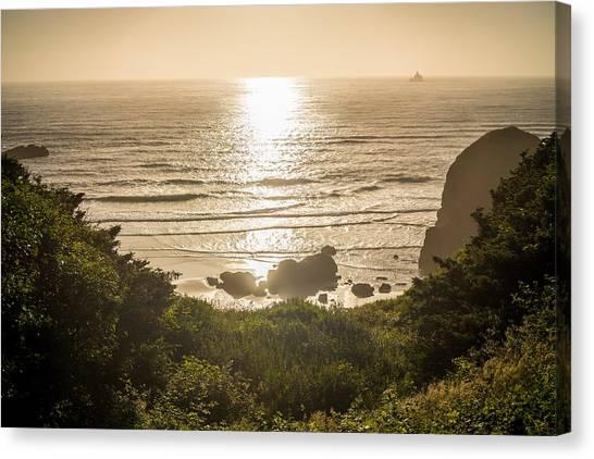 Ocean Cliffs Canvas Print - Golden Cove by Kristopher Schoenleber