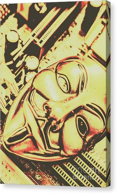 The Legion Canvas Print - Golden Cyber Rebellion by Jorgo Photography - Wall Art Gallery