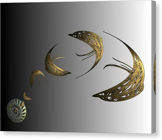 Golden Dolphin Flip Canvas Print by Ricky Kendall