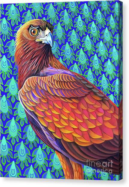 Golden Eagle Canvas Print - Golden Eagle, 2017 by Jane Tattersfield
