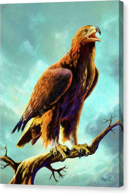 Accipitridae Canvas Print - Golden Eagle by Anthony Mwangi