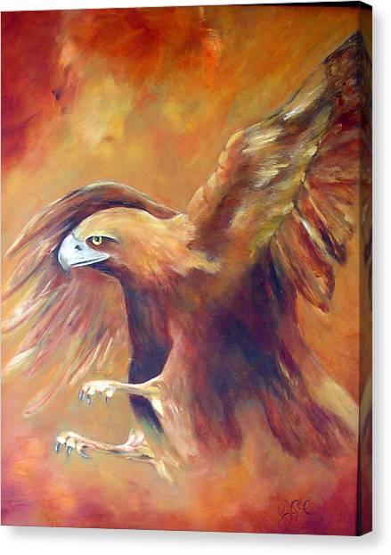 Golden Eagle Canvas Print by Zoe Landria