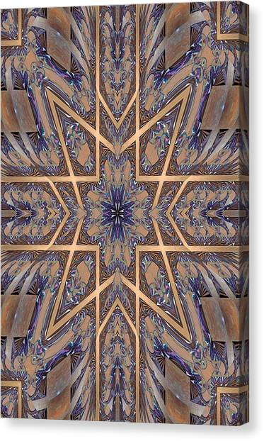 Golden Easter Cross Canvas Print by Ricky Kendall