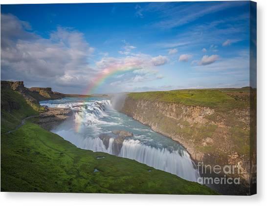 Golden Falls, Gullfoss Iceland Canvas Print