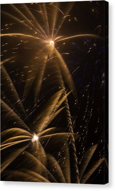 Pyrotechnics Canvas Print - Golden Fireworks by Garry Gay