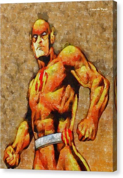 Champion Canvas Print - Golden Flash  - Tempera -  - Da by Leonardo Digenio
