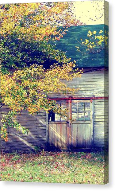 Golden Fall Foliage  Canvas Print by JAMART Photography