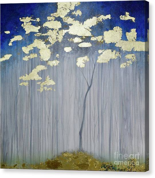 Canvas Print featuring the painting Golden Forest by Mary Scott