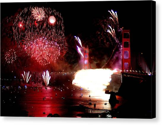Golden Gate 75th Anniversary 2 Canvas Print