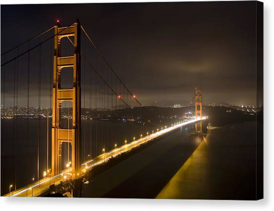 Golden Gate At Night Canvas Print