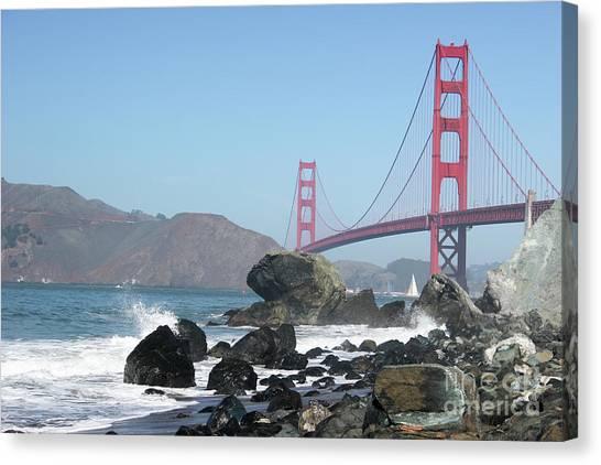 Golden Gate Beach Canvas Print