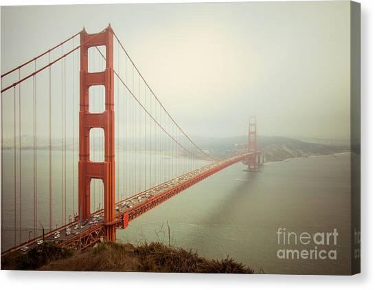 San Canvas Print - Golden Gate Bridge by Ana V Ramirez