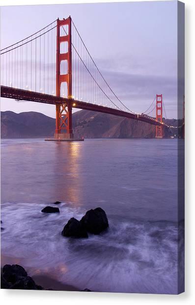 Golden Gate Bridge At Dusk Canvas Print by Mathew Lodge