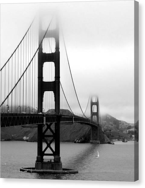 Gate Canvas Print - Golden Gate Bridge by Federica Gentile
