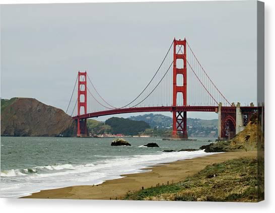 Golden Gate Bridge From Baker Beach Canvas Print