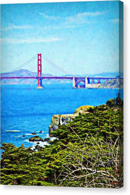 Golden Gate Bridge From The Coastal Trail Canvas Print