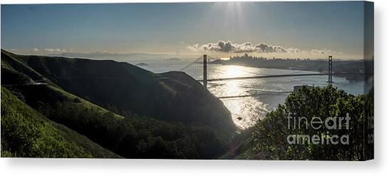 Golden Gate Bridge From The Road Up The Mountain Canvas Print