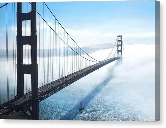 San Francisco Canvas Print - Golden Gate Bridge by Happy Home Artistry