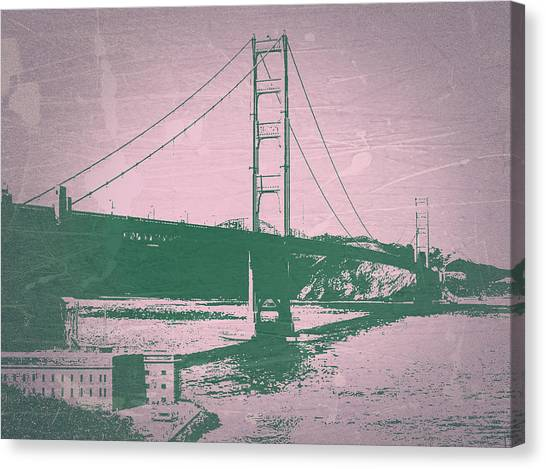 Gates Canvas Print - Golden Gate Bridge by Naxart Studio