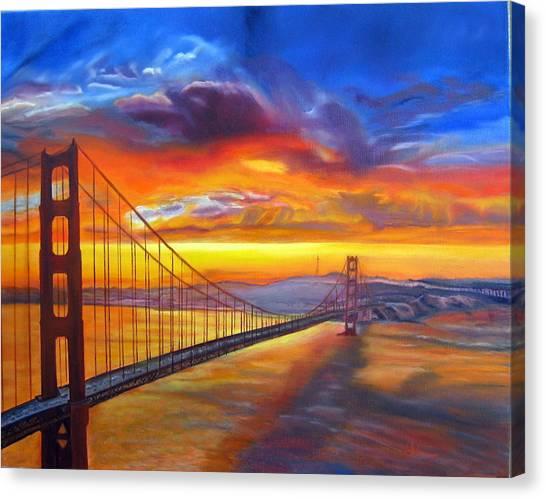 Golden Gate Bridge Sunset Canvas Print
