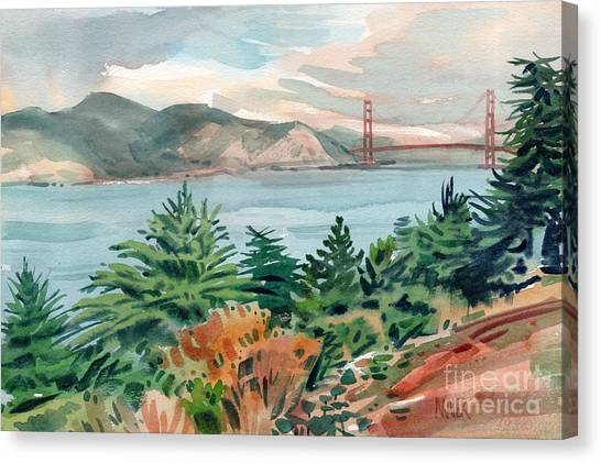 Golden Gate Canvas Print by Donald Maier