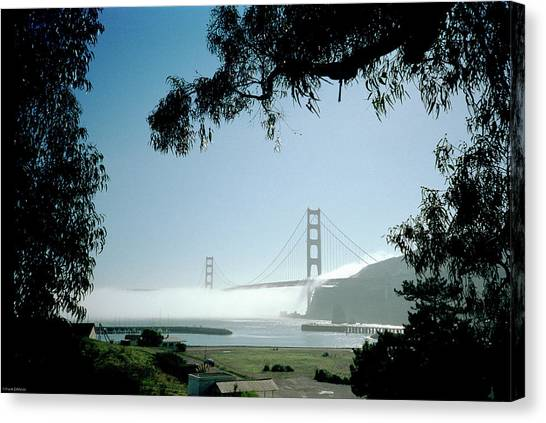 Golden Gate Fog  Canvas Print