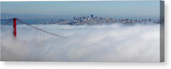 Golden Gate Fog Pano Canvas Print