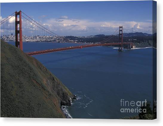 Golden Gate From Marin Headlands Canvas Print