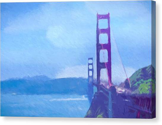 Canvas Print - Golden Gate Impressionist by Impressionist Art