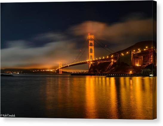 Golden Gate Night Canvas Print
