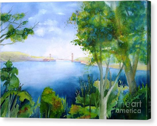 Golden Gate San Francisco Canvas Print by Maryann Schigur
