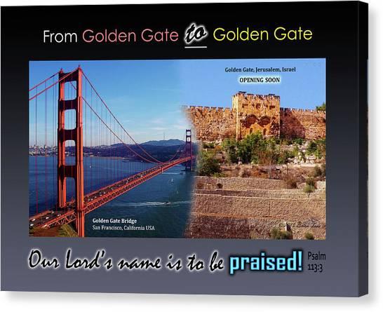Golden Gate To Golden Gate Canvas Print