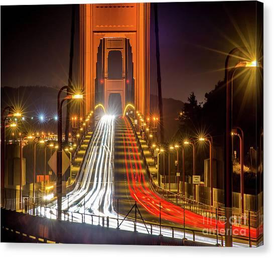 Golden Gate Traffic Canvas Print