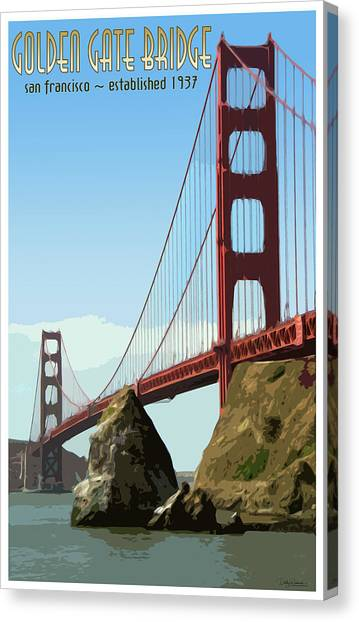 Sausalito california canvas prints page 18 of 23 fine art america sausalito california canvas print golden gate vintage style poster by debby richards altavistaventures Gallery