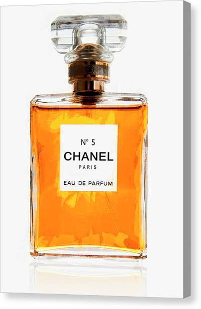 Chanel Canvas Print - Golden Glow Of Chanel No. 5 by Daniel Hagerman