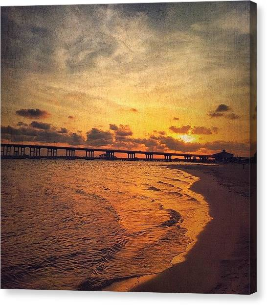 Mississippi Canvas Print - Golden Glow #sunset #coastalbeauty by Joan McCool
