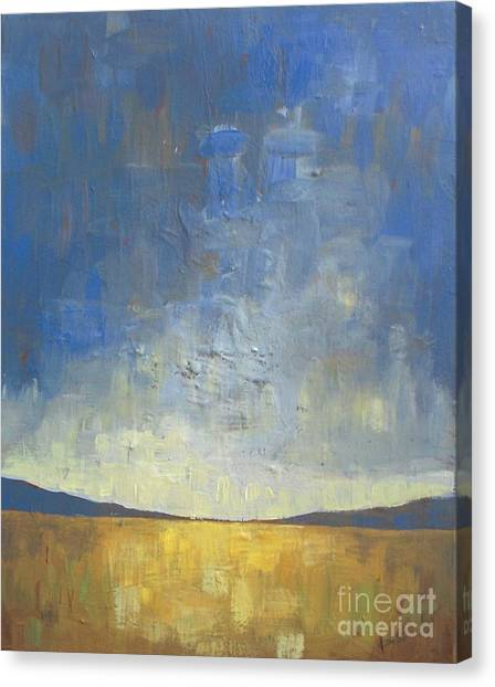 Abstract Canvas Print - Golden Glow by Vesna Antic