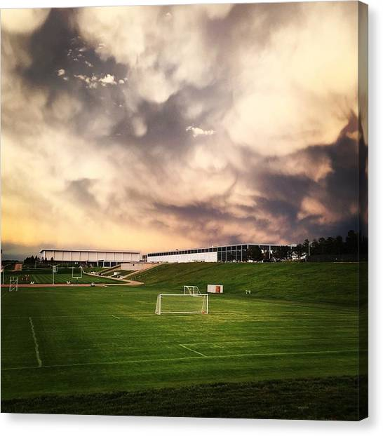 Golden Goal Canvas Print