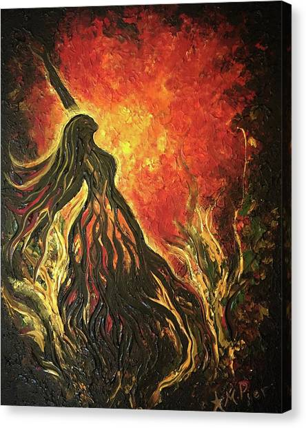 Golden Goddess Canvas Print